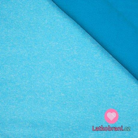 Softshell modrá mix melé s fleecem (světlejší)