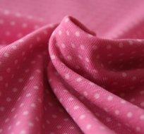 Úplet puntíky světlé na pastelově růžové (malý)
