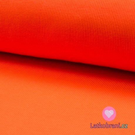 Náplet žebro neon oranžový