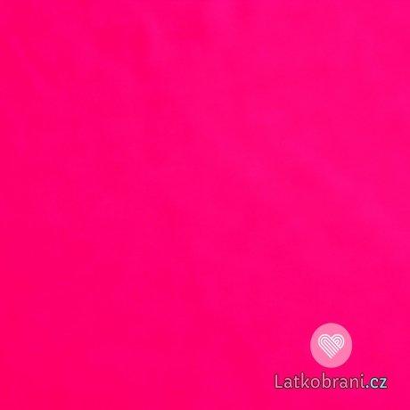 Jednobarevný úplet pink růžová 200g
