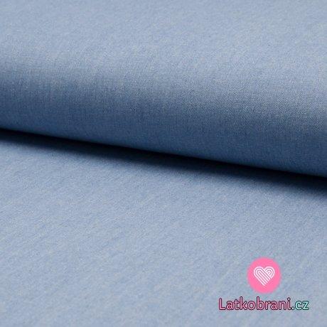 Jeans/Denim stretch modrá světlejší