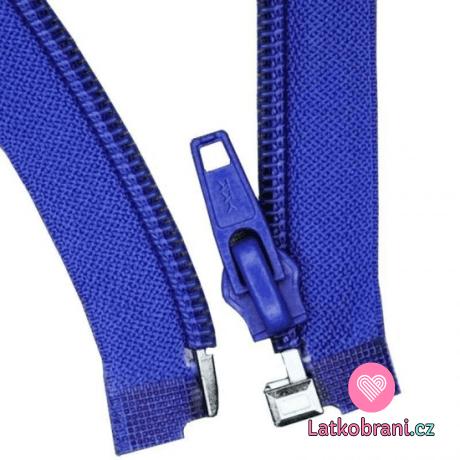 Zip spirálový dělitelný kobaltově modrý 70 cm