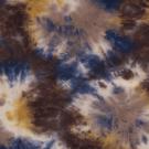Úplet potisk batika modro - hnědá