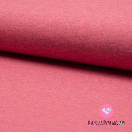 Jednobarevný úplet korálově růžová melange