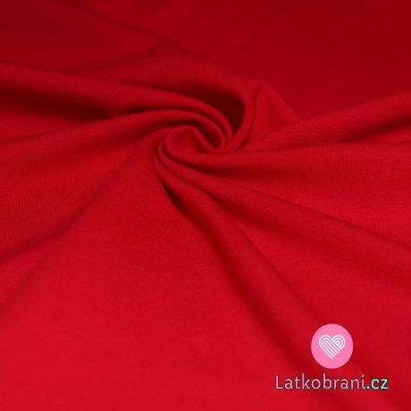 Jednobarevná teplákovina sytě červená 240 g