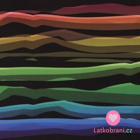 Softshell potisk barevné vlny