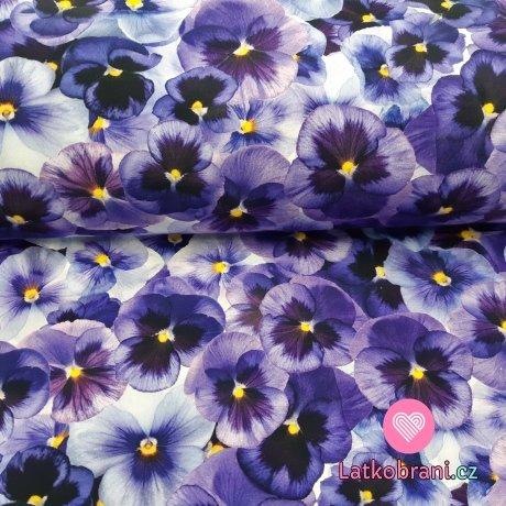 Úplet potisk fialové macešky