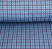 Softshell mříže kostičky modrá s fleecem