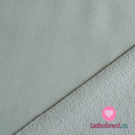 Softshell šedá (světlejší) s fleecem