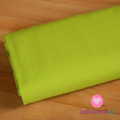 Jednobarevný úplet zelený limetka 200gr