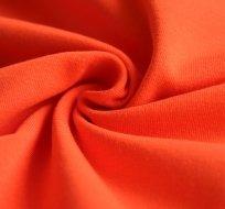 Jednobarevný úplet oranžový cihlový 200g