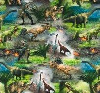 Úplet digitisk dinosauři jako živí, pravěk