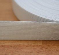 Pruženka plochá bílá 25 mm