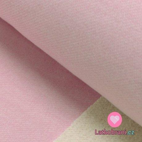 Teplákovina s beránkem jednobarevná baby růžová