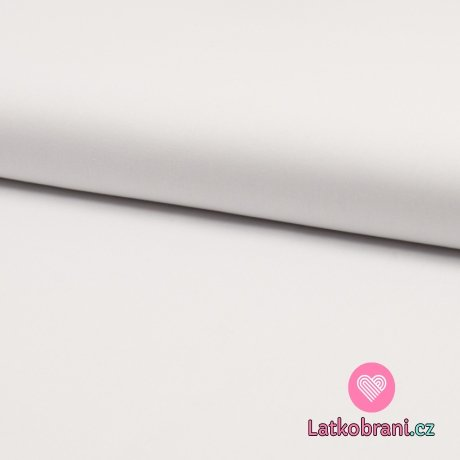 Bavlněný popelín jednobarevný bílý, organická bavlna