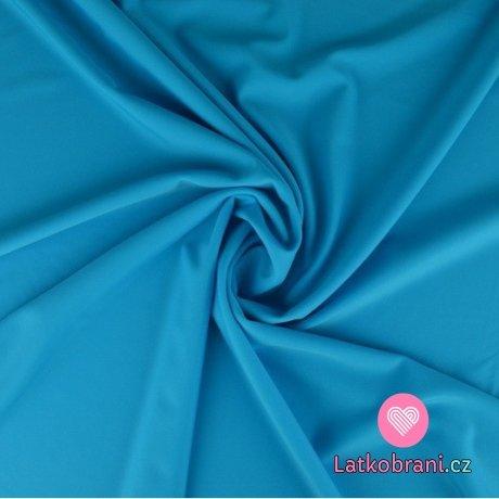Plavkovina (lycra) jednobarevná modrá