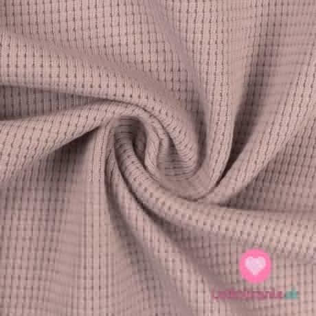 Bavlněný vaflový úplet jednobarevný světle růžový