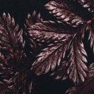 Viskóza potisk vínové listy na černé