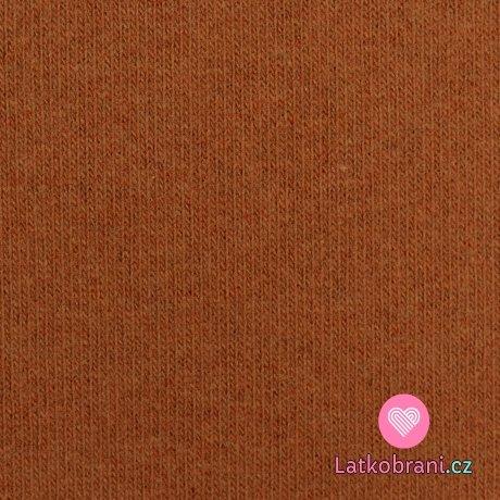 Italská pletenina, počesaná cihlová