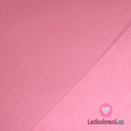 Softshell starorůžový s fleecem