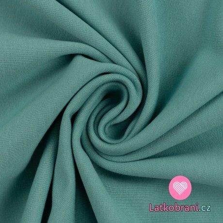 Teplákovina jednobarevná počesaná smaragdová