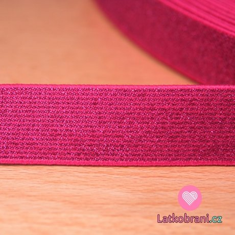 Guma elastická třpytivá fuchsie