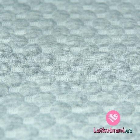 Pletenina plastické bublinky šedé melé světlé