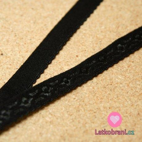 Krajka lemovací elastická černá
