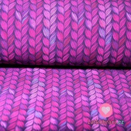 Softshell lístky amarantové s fleecem