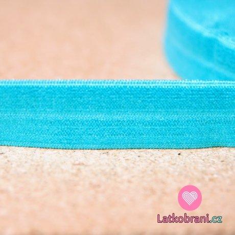 Šikmý proužek / lemovací pruženka tyrkysovo-smaragdová 19mm