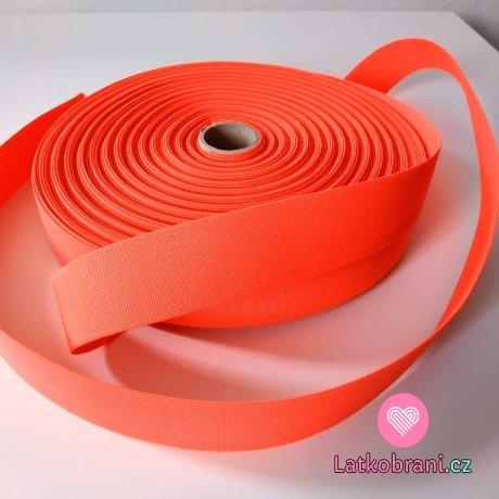 Pruženka barevná neonově růžová 30 mm oděvní