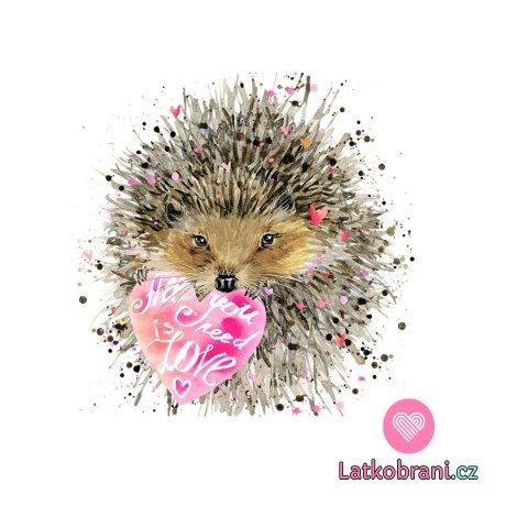 Panel zamilovaný ježeček se srdcem