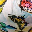 Teplákovina potisk pestré motýli a jejich stíny