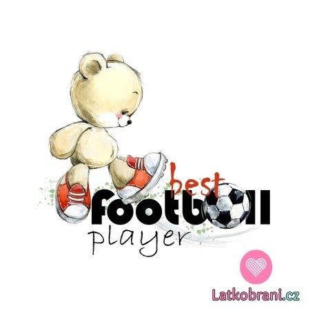 Panel medvídek fotbalista na bílé