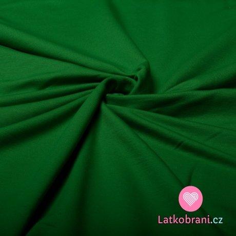 Jednobarevná teplákovina zelená tráva 290g