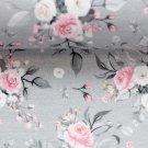 Úplet potisk kytice růží na šedé