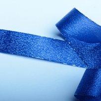 Stuha lurexová půlnoční modrá 25 mm