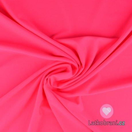 Plavkovina (lycra) jednobarevná neonově růžová
