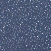 Úplet potisk minimalistické stromečky na modré