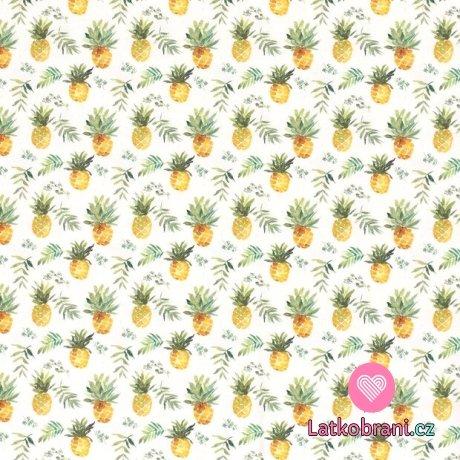 Úplet potisk sladký ananas na bílé