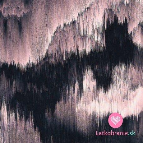 """Viskóza potisk růžový """"vodopád"""""""