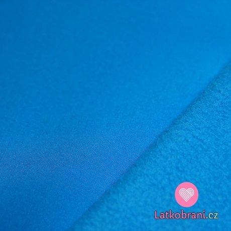 Softshell modrý tyrkysový tmavší s fleecem