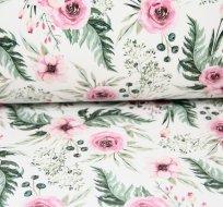 Softshell šípkové růže v listí