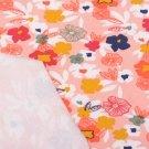 Úplet potisk pestré květinky malované na  růžové