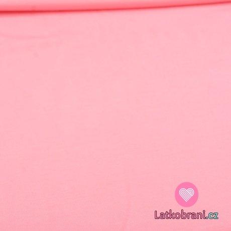 Jednobarevný úplet růžový tmavší teplejší