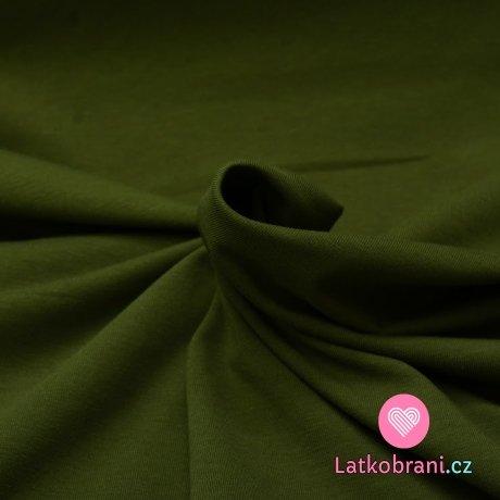 Úplet jednobarevný khaki zelená  tmavší 160 g