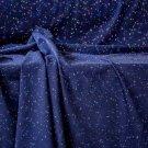 Teplákovina potisk nepravidelné neonové nopky na tmavě modré