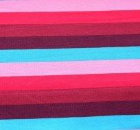 Úplet proužek růžový, červený, modrý