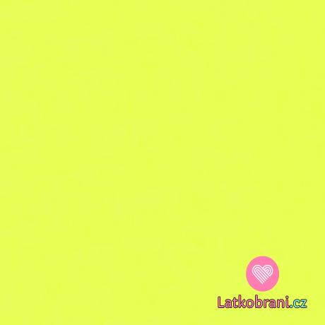 Teplákovina jednobarevná neon žlutá
