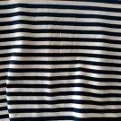 Úplet potisk proužek tmavě modrý na bílé
